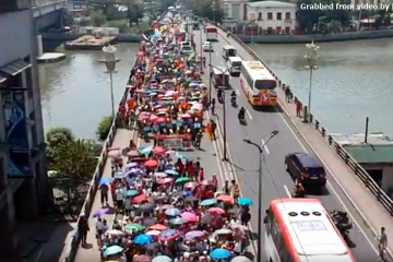 International Women's Day protest in Manila. Photo grabbed from video by Kodao.