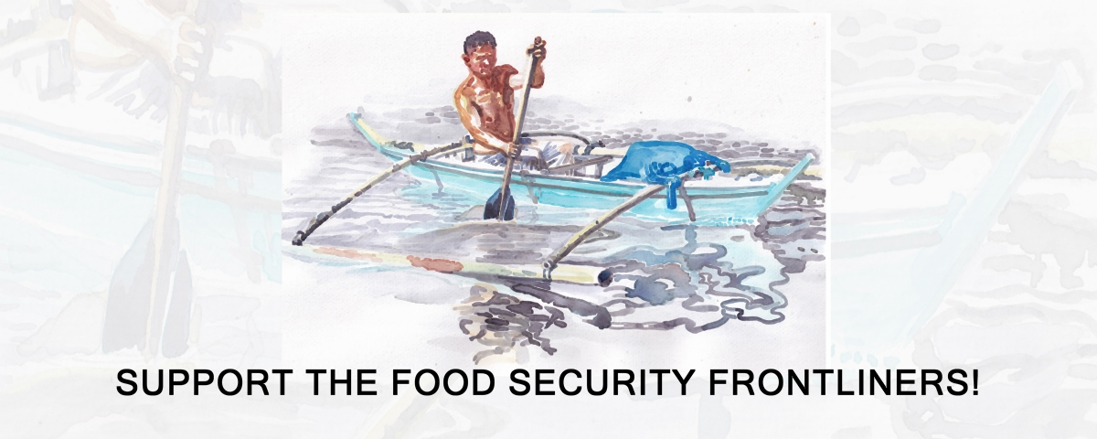 Support the Food Security Frontliners! Support artwork by Marc Cosico.