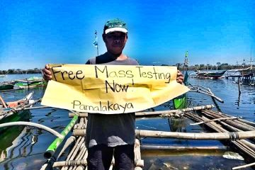 Bacoor City fisherfolk calls for free mass testing.